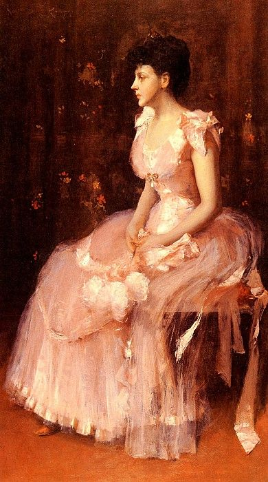 Портрет дамы в розовом. Уильям Мерритт Чейз