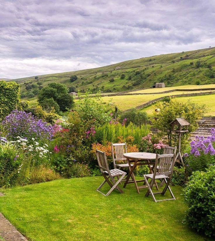 A dream garden overlooking the Yorkshire Dales.