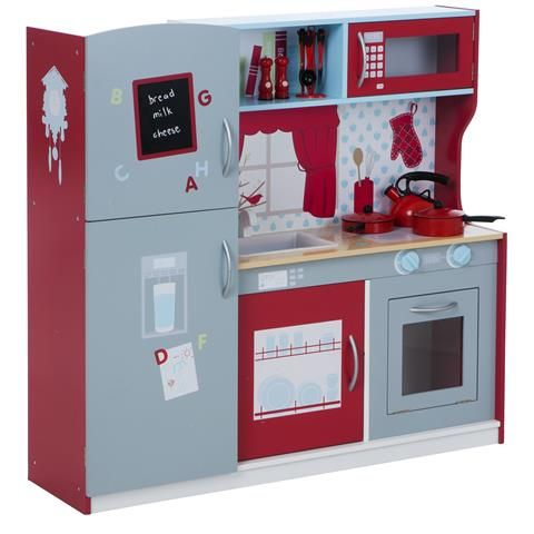 Wooden Kitchen Playset Role Play Km026-9mm