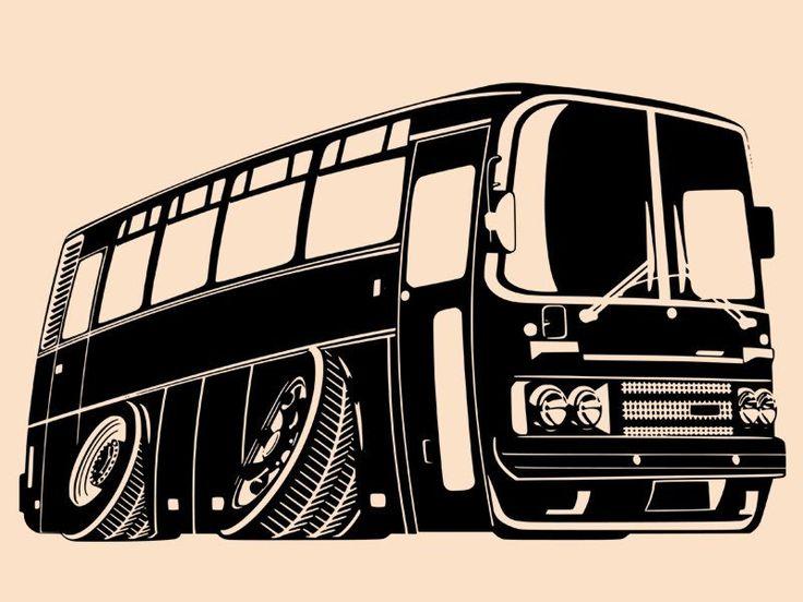 Samolepka Autobus 001 na zeď