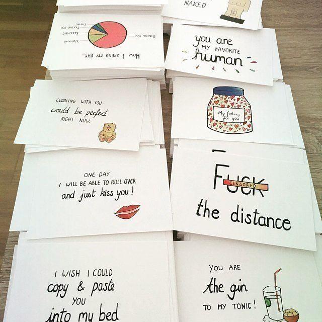 Zauberhafte Postkarten zum Besten von die Gesamtheit Situationen im Leben von ANIllustrations…