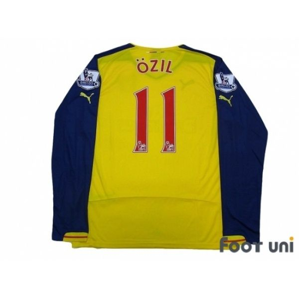Photo2: Arsenal 2014-2015 Away L/S Shirt #11 Ozil w/tags #puma #arsenal - Football Shirts,Soccer Jerseys,Vintage Classic Retro - Online Store From Footuni Japan