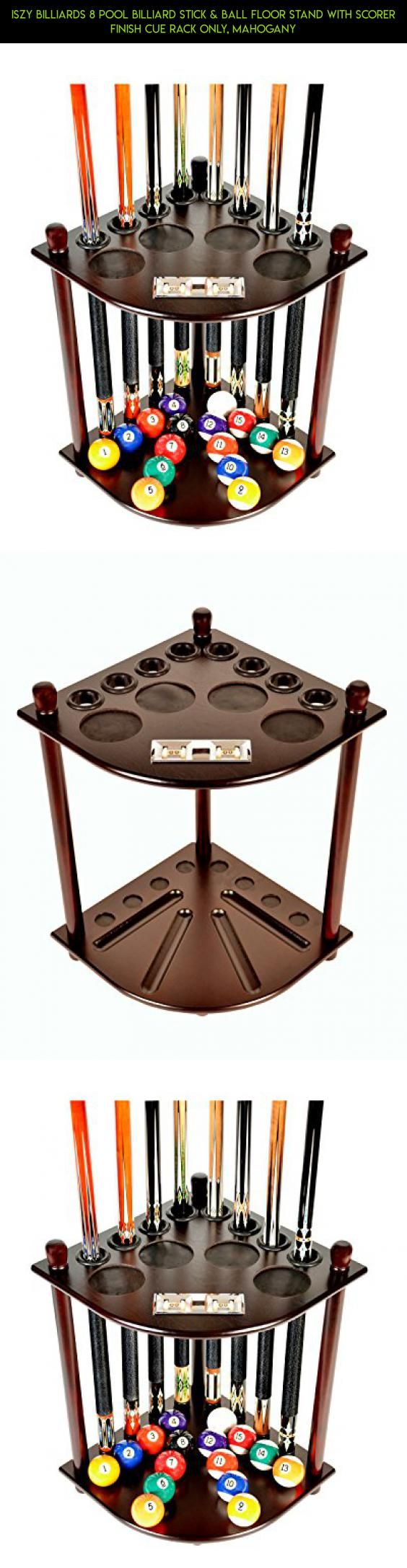 Iszy Billiards 8 Pool Billiard Stick & Ball Floor Stand with Scorer Finish Cue Rack Only, Mahogany #parts #tech #pools #drone #technology #camera #shopping #plans #gadgets #racing #products #balls #fpv #kit