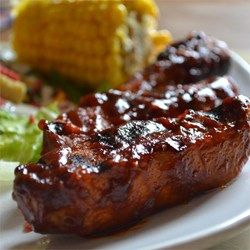 "Simple BBQ Ribs | ""I made these ribs last night for my boyfriend and I. He was in heaven! He said, and I quote "" Honey, we are going to make ribs this way for the rest of our lives!"" """