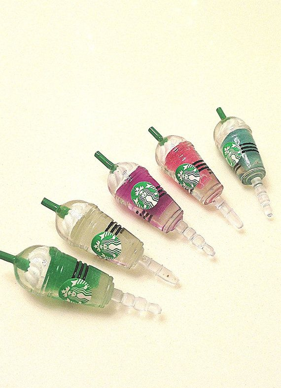 Phone dust plug jack coffee Starbucks frappe by donutsandcoffee, $5.00