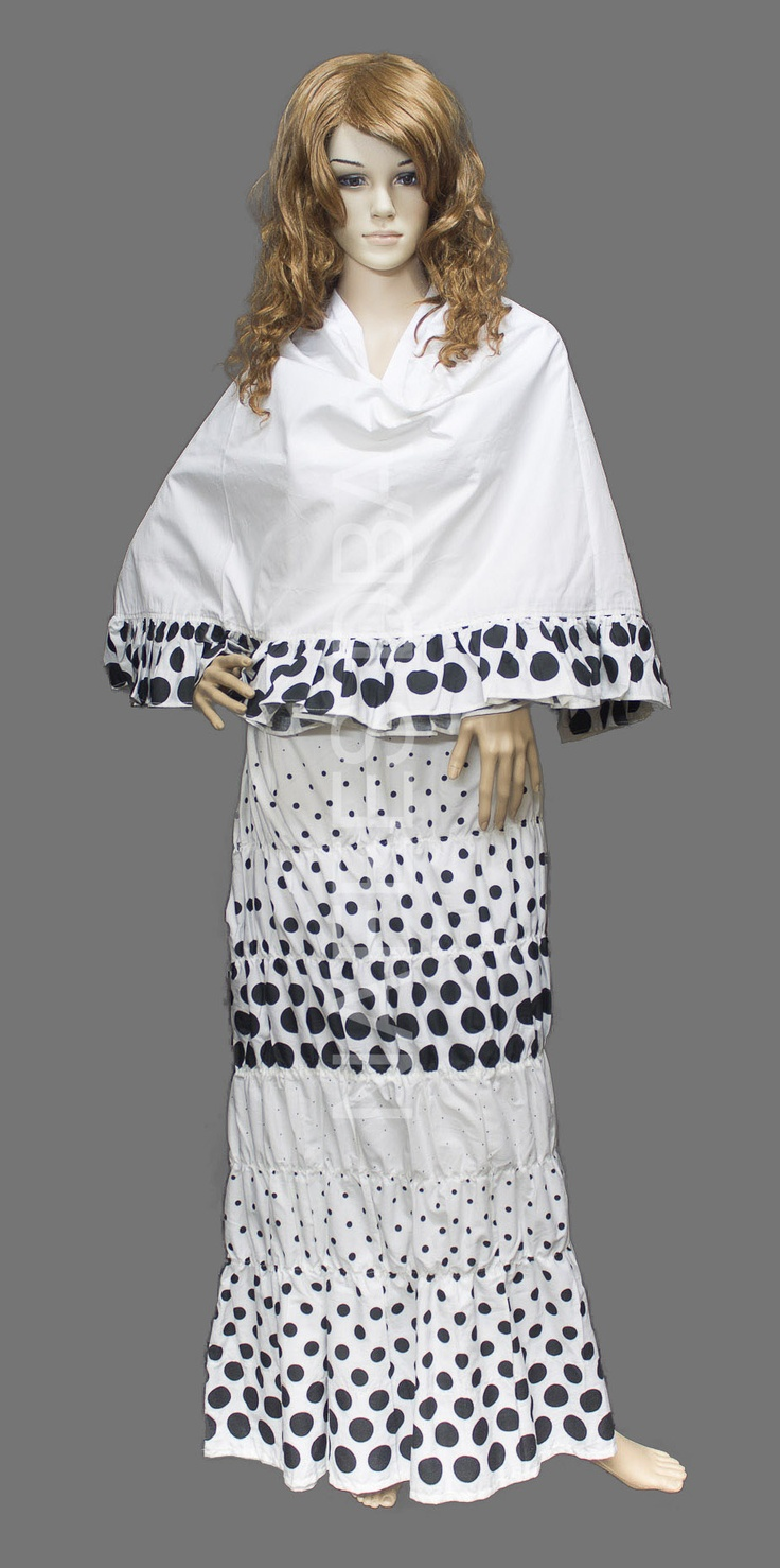 White Polka Dots Rida  |  Like this Rida? There're more to view at http://nafees.in