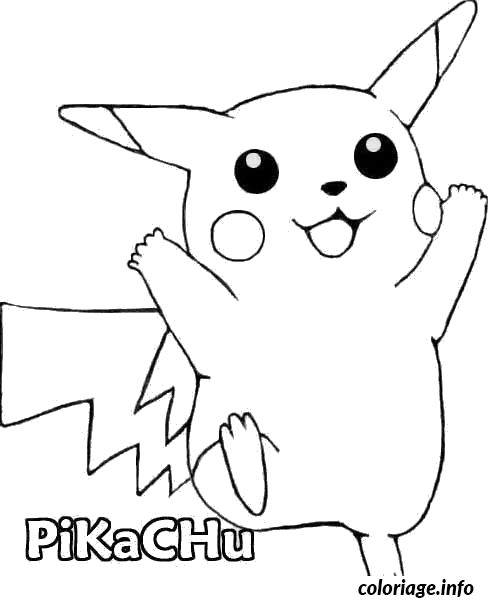 coloriage pokemon pokemon pikachu dessin imprimer