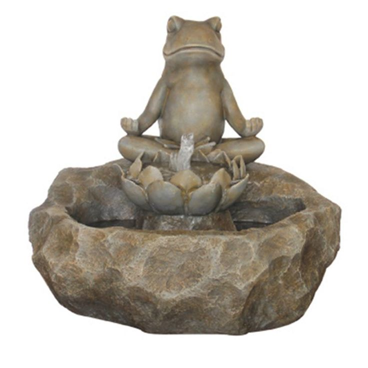 Meditating Frog Fountain Indoor Outdoor Fountain Meditating Frog Fountain Indoor Outdoor Fountain,is a welcome addition to your growing garden. Perfect for both indoor and outdoors, this meditating frog fountain is crafted of durable resin and fiberglass and adds a calm, serene feel to your relaxing space. http://kittykatkoutique.com/meditating-frog-fountain-indoor-outdoor-fountain/