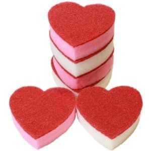 West5Products 6x Heart Shaped Washing Up Sponges, For the Love of the Kitchen Sink: Amazon.co.uk: Kitchen & Home
