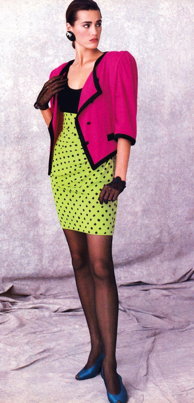 Dress code eighties - Peter Lindbergh For American Vogue December 1987 Clothing By Emanual Ungaro