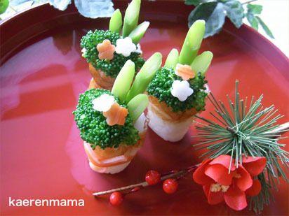 ちくわで簡単!門松の作り方|kaerenmamaオフィシャルブログ「短時間でかわいいキャラ弁当」Powered by Ameba