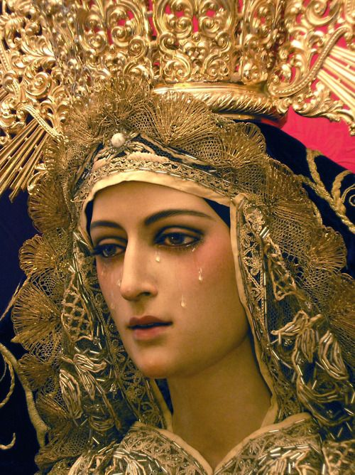 Our Lady - if only we knew the many tears that Mary cries over our poor actions / choices :(