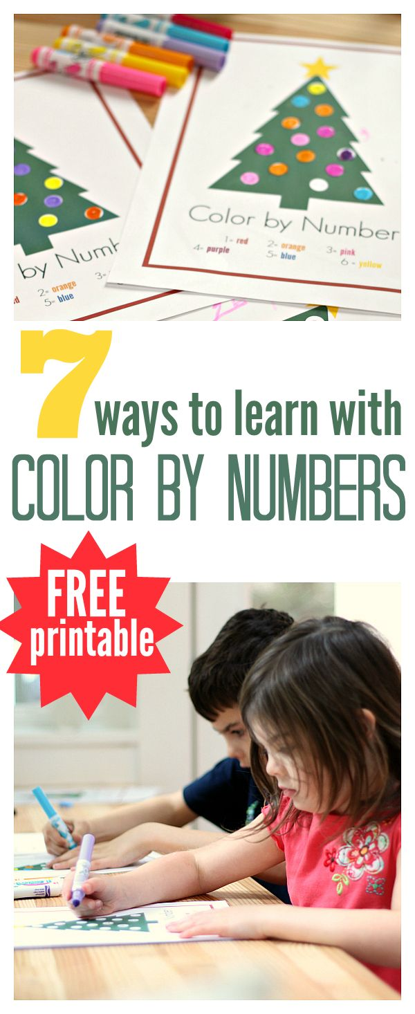 Great FREE color by number printables with great suggestions for how to use it to teach all sorts of things from writing to subtraction!