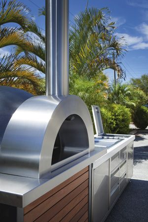 wood fire oven and bbq kitchen
