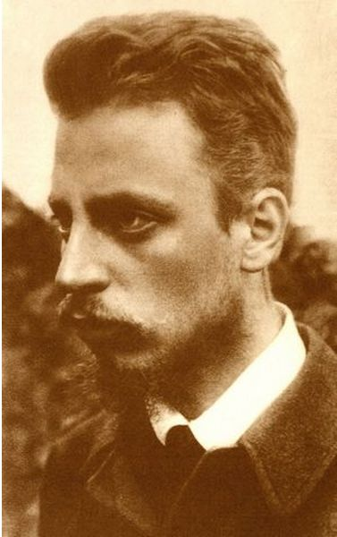 "Rainer Maria Rilke, Sept. 1900, was a Bohemian-Austrian poet and novelist, ""widely recognized as one of the most lyrically intense German-language poets"", writing in both verse and highly lyrical prose. Several critics have described Rilke's work as inherently ""mystical"". These deeply existential themes tend to position him as a transitional figure between the traditional and the modernist writers."