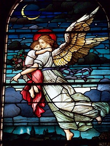 Stain glass project: guardian angel When I was 12 I was in a hit n run. I had a guardian angel watch out for me. Ask me about the details on fb.