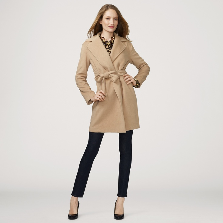 Love this Classic Belted Camel Coat for $278 on C. Wonder