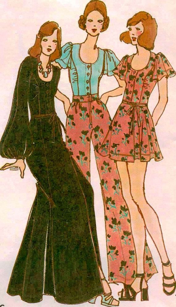 1970's Betsey Johnson of Alley Cat Sewing Pattern - Butterick 6979 - Blouses…