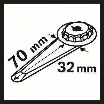 BOSCH HCS univerzálny pílový list na škáry MAII 32 SLC
