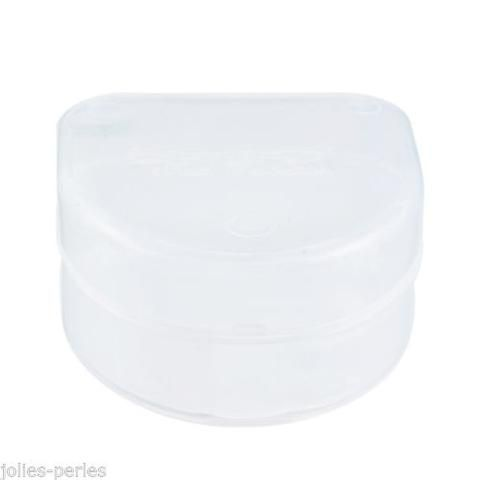 JP 1PC Transparent White Braces Box Mouthguard Kit Dentures Box 6.4x6.1x3.6cm