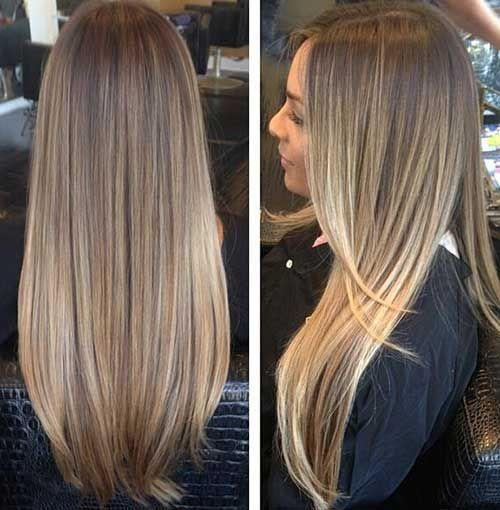 long Blond foncé Hair-13