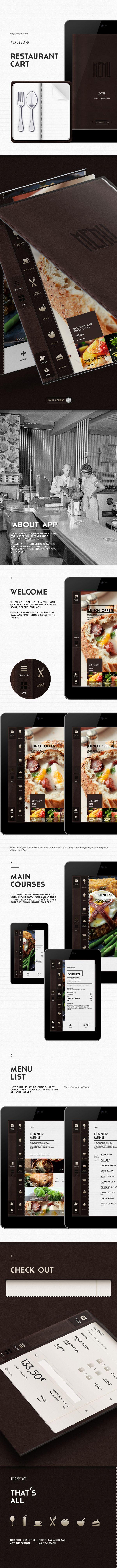 Restaurant App / MyntCart by Piotr Kazmierczak, via Behance/