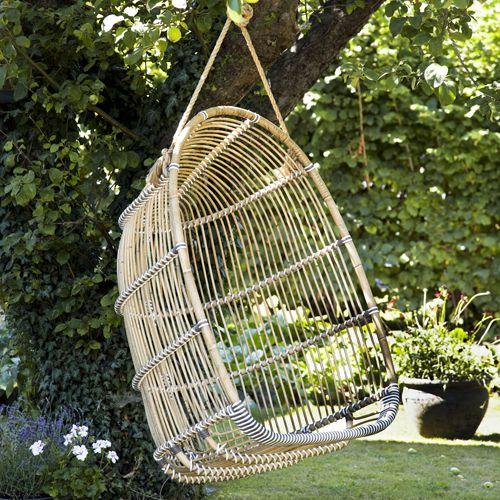 Fauteuil suspendu rotin et fibre synthétique Holly Sika Design
