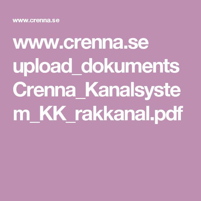 www.crenna.se upload_dokuments Crenna_Kanalsystem_KK_rakkanal.pdf
