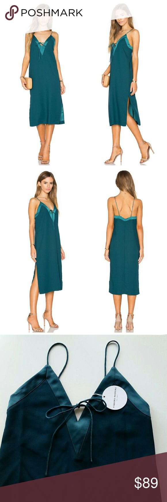 """Finders Keepers Yesterday Midi Dress Finders Keepers Yesterday Dress  *Petrol - Dark emerald green color *Size XS - Pit to pit : 16"""" flat / Length : 42"""" *Double side slits / Zipper in the back for open and close  *100% polyester / Hand wash recommended  *New with tags  *No trade Finders Keepers Dresses Midi"""