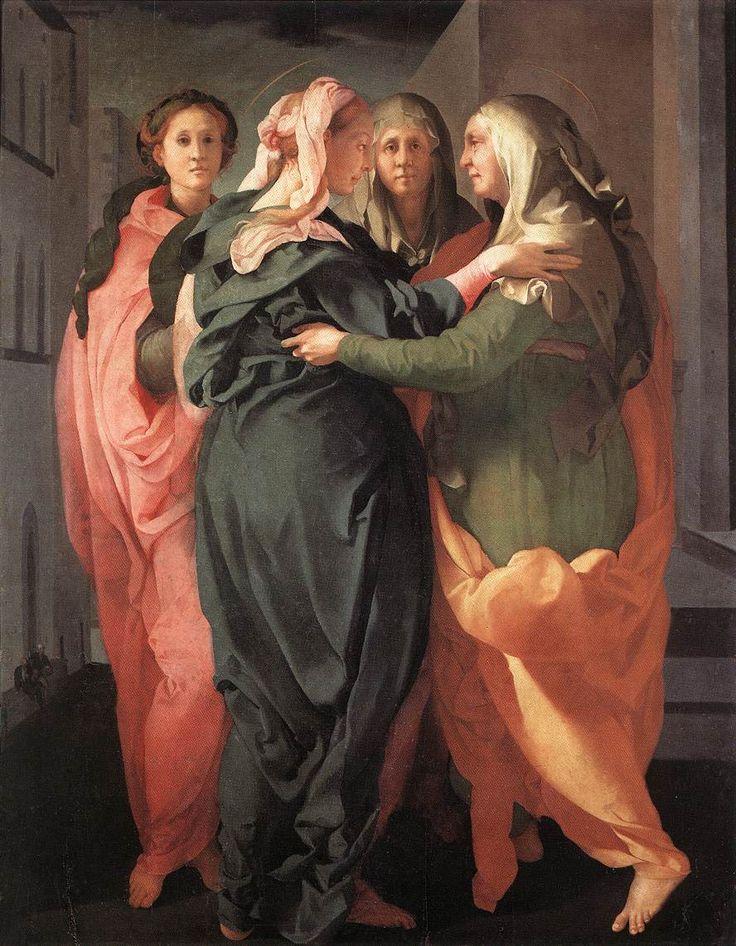 Jacopo Carucci detto il Pontormo, La visitazione,ca.1528, Pieve di Carmignano,