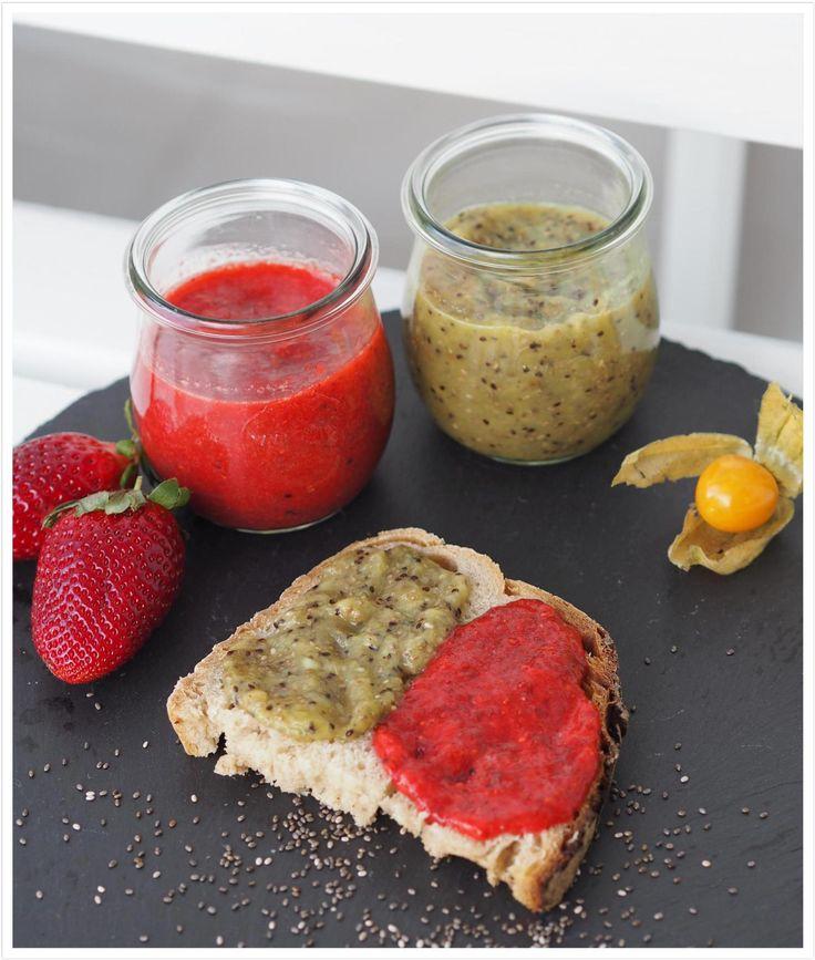 Low-Carb-Marmelade-ohne-Zucker-Kiwi-Erdbeere-aus-dem-Thermomix