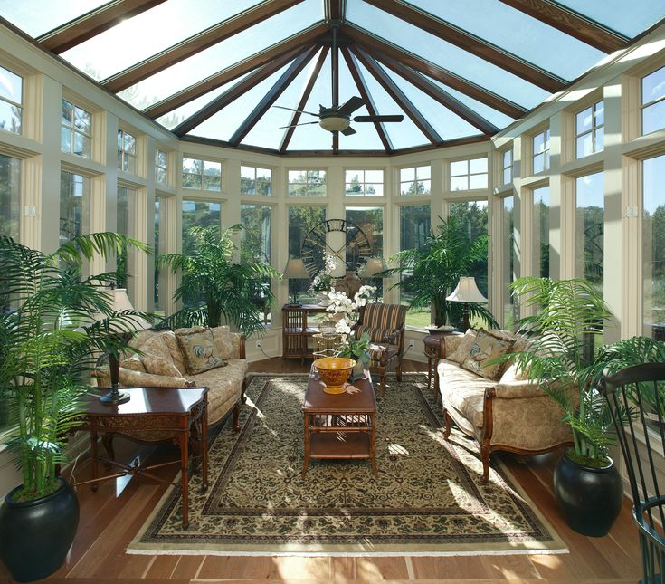 Open Sunroom With Plenty Of Natural Sunlight Shining
