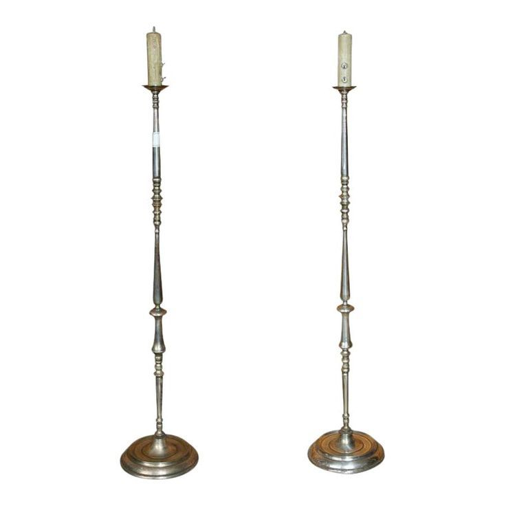 French 1940s Brass Floor Lamps A Pair With Images Lamp