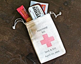 Personalized DIY Hangover Kit first aid for by ClementineWeddings