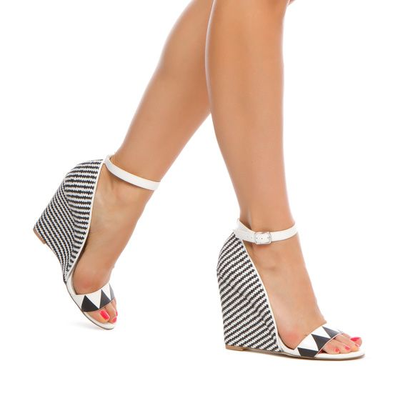 STRIPE WEDGE! ღ ♡ #stylingwithamira ♡ ღ | Styling With Amira | Shoes, Shoe boots, Crazy shoes