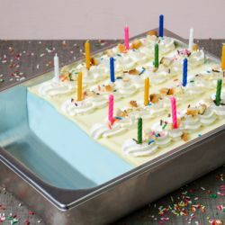 Birthday Cake Layered Gelato // Fuel your passion with more recipes at www.pregelrecipes.com
