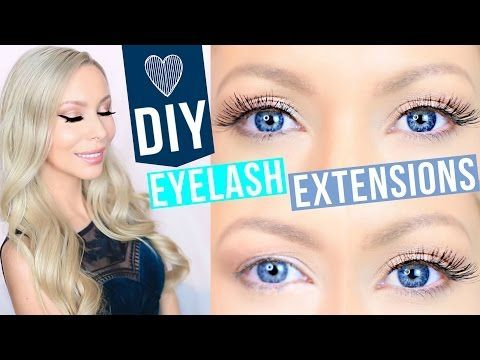 DIY Eyelash Extensions! - YouTube