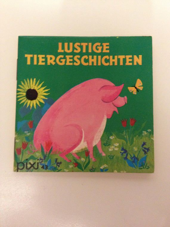 German Pixi Book for children Lustige Tiergeschichten