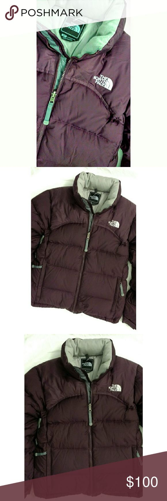 The North Face Nuptse Jacket TNF Coat. Beautiful maroon color with grey contrast & lining. 700 Fill Down. Extremely warm. No flaws. Excellent like new condition. North Face Jackets & Coats