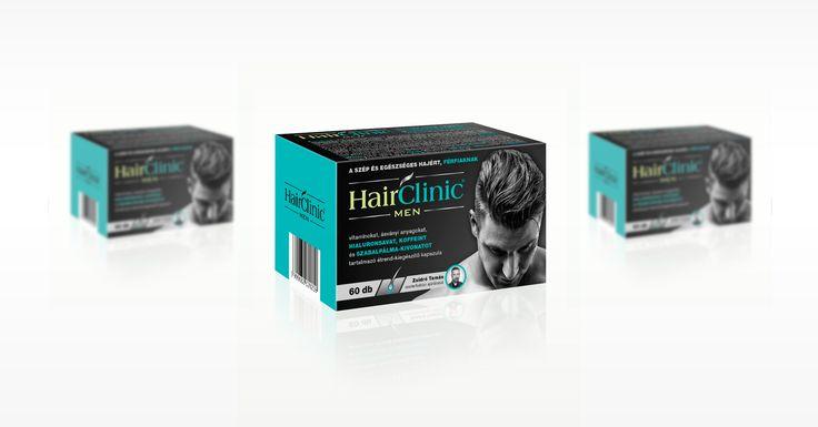HairClinic men | k2o Creative Studio #csomagolástervezés #packagedesign  #package #csomagolás