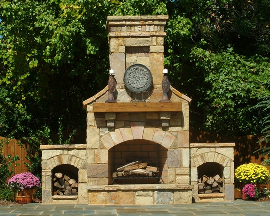 Find This Pin And More On Outdoor Fireplaces By Shenretty.  Outdoor Fireplace Ideas