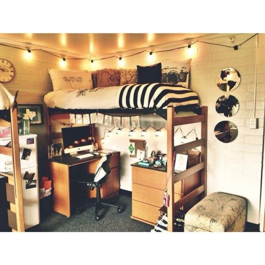 25 Of The Most Well Designed Dorm Rooms Perfect For Decor Inspiration |  StyleCaster Part 62