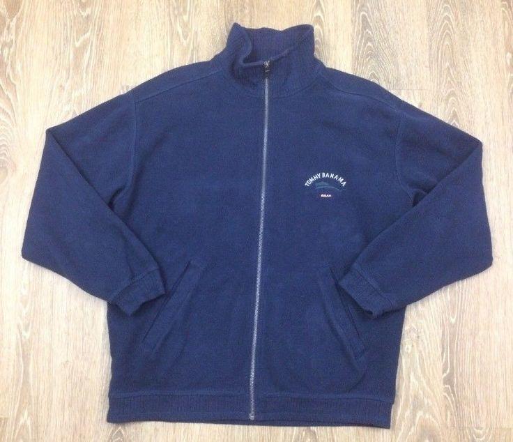 Tommy Bahama Relax Swordfish Blue Full-Zip 100% Cotton Sweater Jacket Mens Small  | eBay