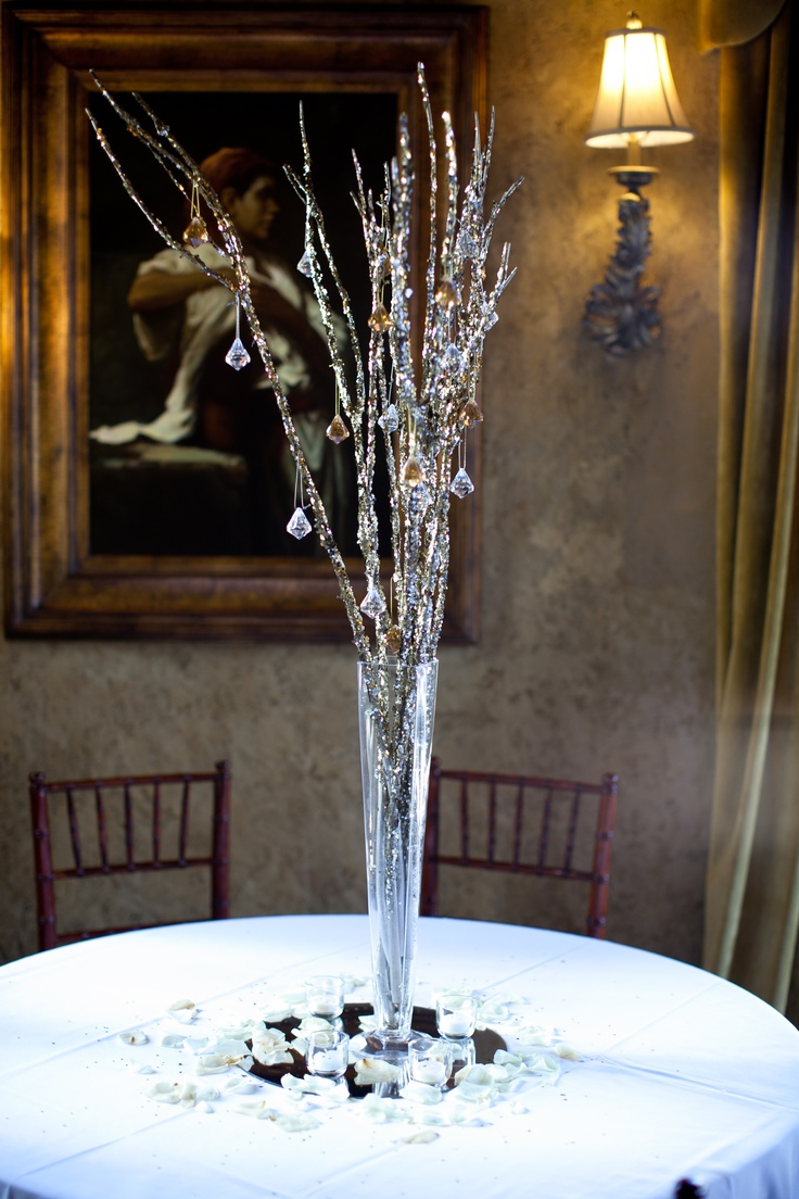Glitter Branch Centerpieces Branches From
