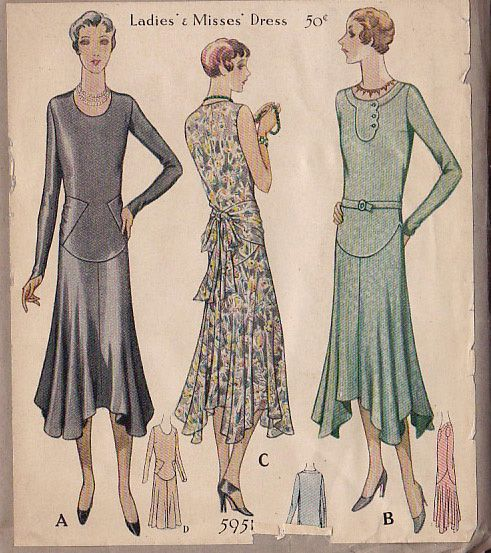 1920s dress pattern, Google and Patterns on Pinterest