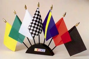 """Show your pride with this NASCAR Mini Flag Set from Heartland Flags! Size: 4"""""""" x 6"""""""" mini flag set. Officially licensed NASCAR Flags."""
