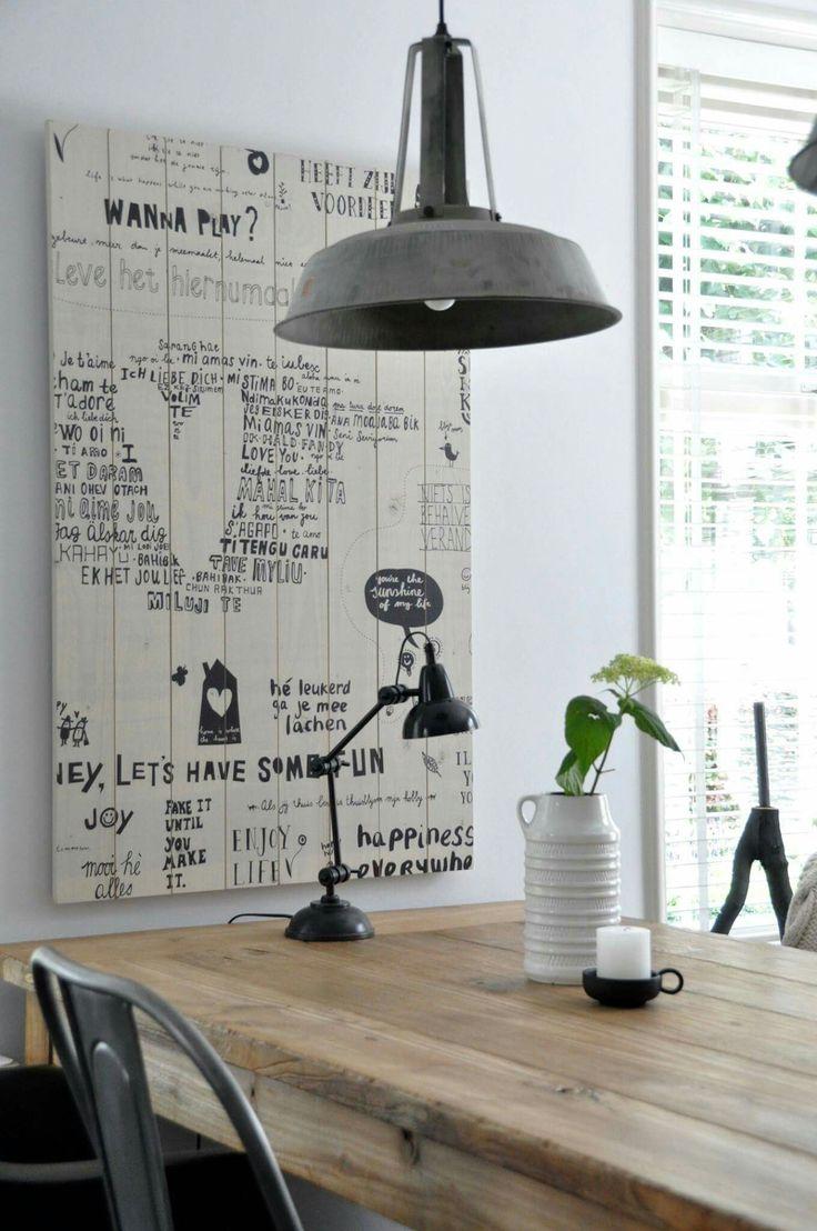 Meer dan 1000 ideeën over schilderen van eettafels op pinterest ...