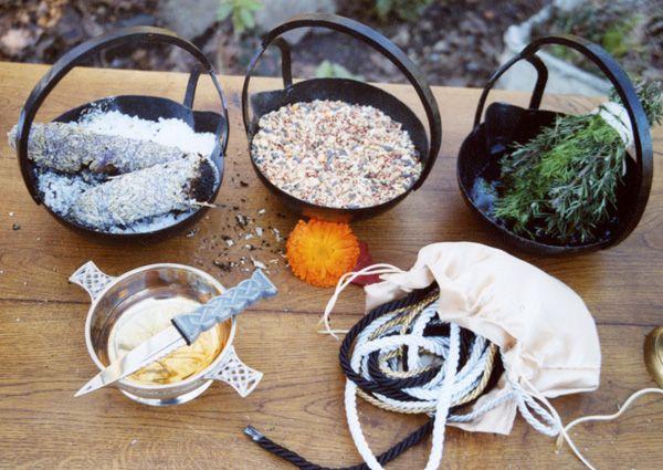 Handfastings Ritual Tools Weddings:  Ritual tools from a handfasting.