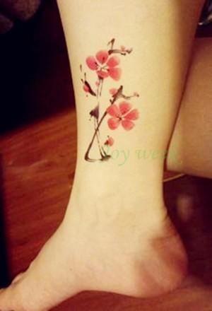 97e284988 Flower Waterproof temporary tattoo sticker lotus leaf girl lavender tatto stickers  flash tatoo fake tattoos for women #tattoosforgirls