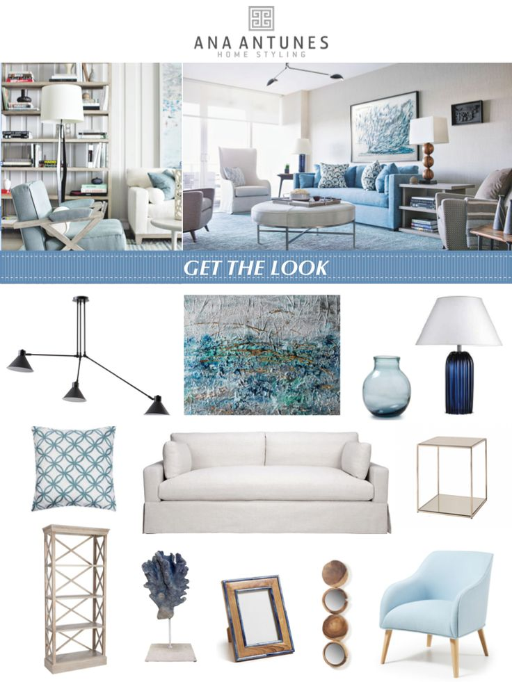 Get The Look Moodboard * Copie o Estilo e o Moodboard - Blues shades - by http://home-styling.blogspot.pt